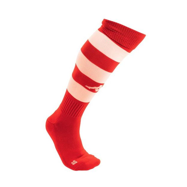 Picture of JUNIOR LIPENO x1 PAIR OF HIGH MATCH SOCK IN RED/WHITE