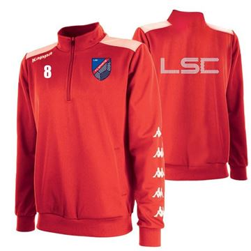 Picture of ADULTS SACCO TRAINING SWEAT 1/4 ZIP IN RED