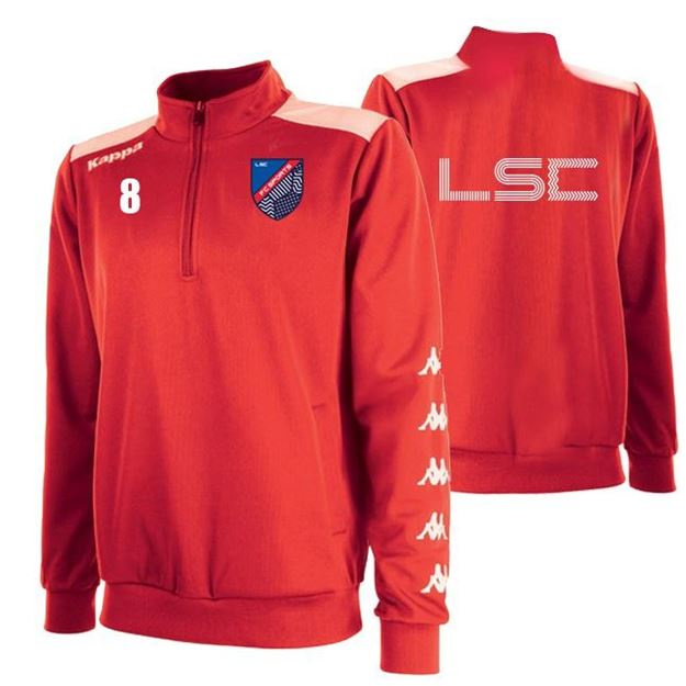 Picture of JUNIOR SACCO TRAINING SWEAT 1/4 ZIP IN RED