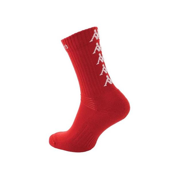 Picture of JUNIOR ELENO x3 MEDIUM TRAINING SOCKS IN RED